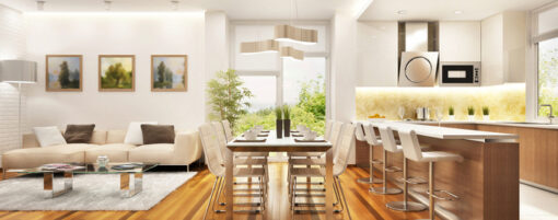 Simple Tips to Help Your Kitchen and Living Room Feel Cohesive